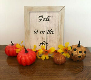 Fall is in the Air sign in a picture frame, has a rustic feel
