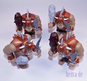 LEGO-Ritter-4-x-Troll-mit-Keule-und-Schwert-Trolle-cas358-60674-NEUWARE