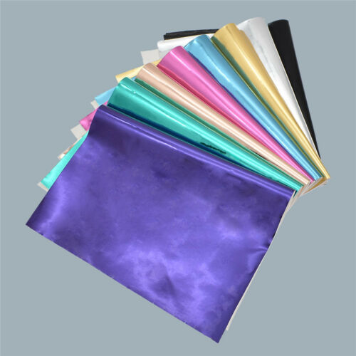 PU Leather Mirror Fabric DIY Colorful Synthetic Leather Handmade Supplies 1pc