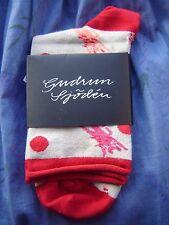 BNWT *Gudrun Sjoden* gorgeous Miaou cotton ankle socks L/XL