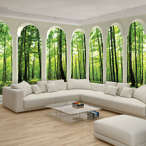 vlies fototapete fototapeten tapete tapeten wald natur pflanzen 2676 veexxl ebay. Black Bedroom Furniture Sets. Home Design Ideas