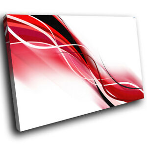 Details About Ab404 Red Black White Cool Modern Abstract Canvas Wall Art Large Picture Prints