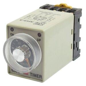 AC-110V-8P-rango-de-0-60-minutos-Temporizador-de-retardo-ajustable-Rele-de-Q1A2