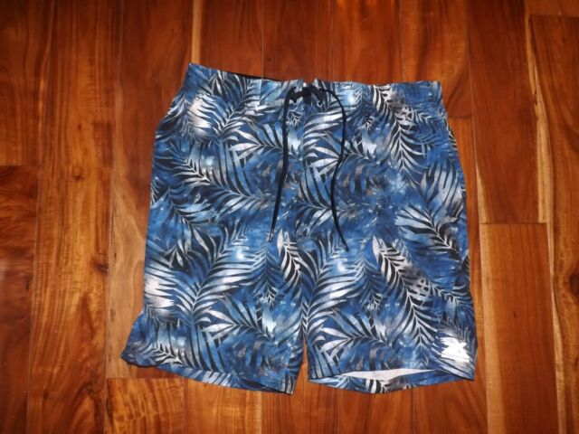 35aacf6de7 NWT Mens ZeroXposur Blue Fusion Swim Shorts Trunks Swimsuit UV Protection  Sz L