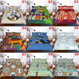 Painting-Cat-Single-Double-Queen-King-Bed-Quilt-Doona-Duvet-Cover-Set-Pillowcase
