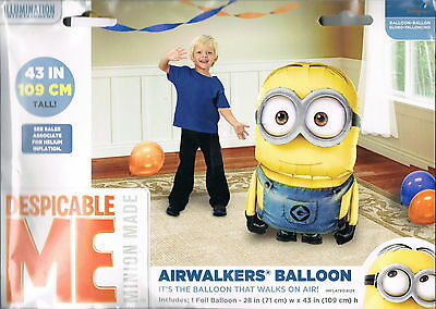 "Despicable Me Minion Airwalker 43"" Birthday Foil Balloon Party Supply Favors"