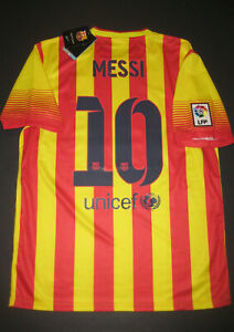 save off 7dcb5 3b750 Details about New 2013-2014 Nike Authentic FC Barcelona FCB Jersey Shirt  Kit Lionel Messi Away