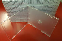 100 Clear Tray Slim Cd/dvd/vcd Jewel Cases 5.2mm, A+ Quality You Would Love