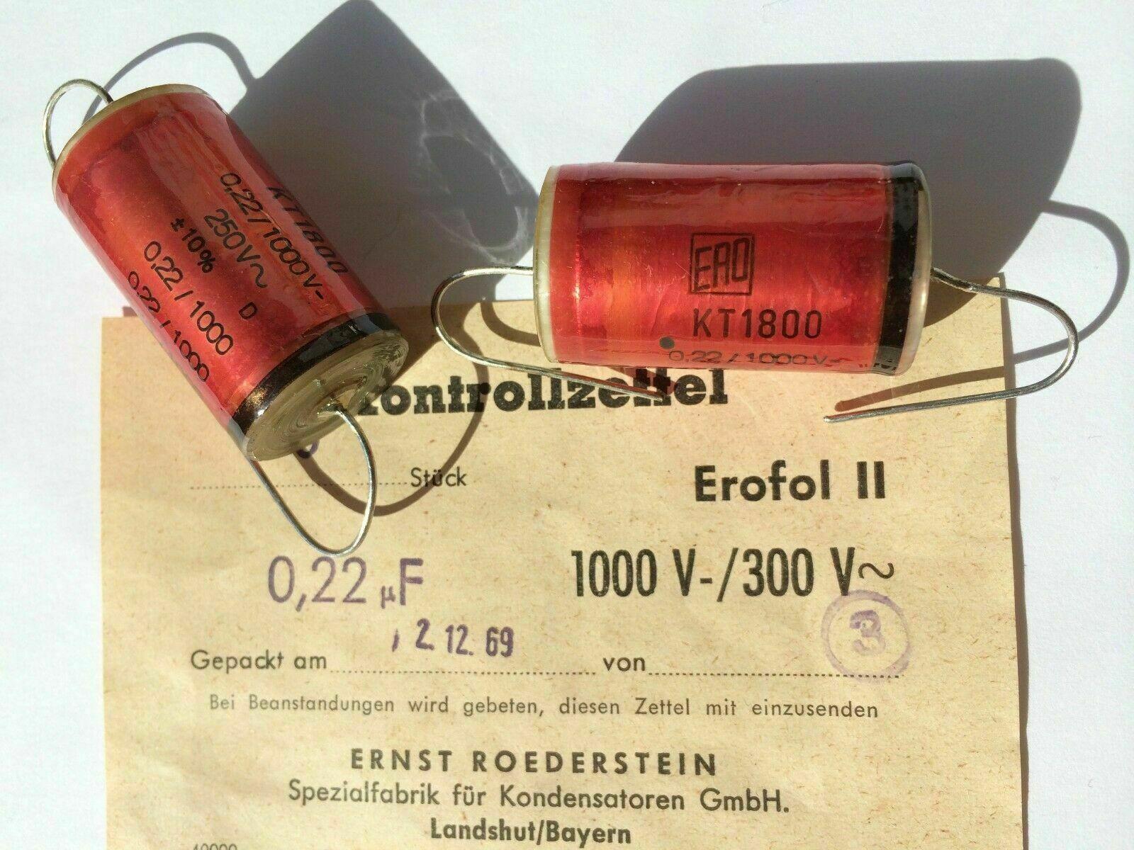 Condensateur ERO tk1800 0,15µf 400v 160 V ~ NEUF