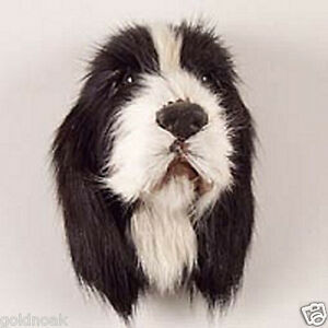 1-BLACK-SPRING-FUR-LIKE-SPANIEL-DOG-MAGNET-Very-realistic-collectible-GIFT