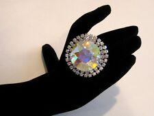 Adjustable Crystal AB Rhinestone Ring Drag Queen SSRD-1-AB/S