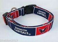 Washington Capitals Terri's Dog Collar Custom Made Adjustable With Nhl Fabric