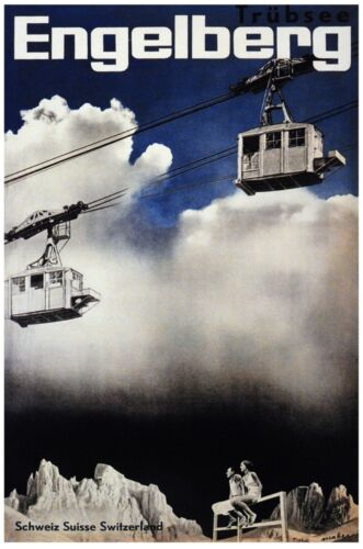 6479.Engelberg.schweiz suisse.switzerland.cable cars..POSTER.art wall decor