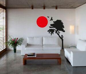 Image Is Loading Wall Art Sticker Decal Vinyl Japanese Oriental Tree