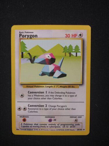 Base Set Unlimited Porygon 39//102 LP