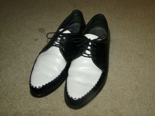 Vintage Leather Black Men's Shoes Two Tone Origin