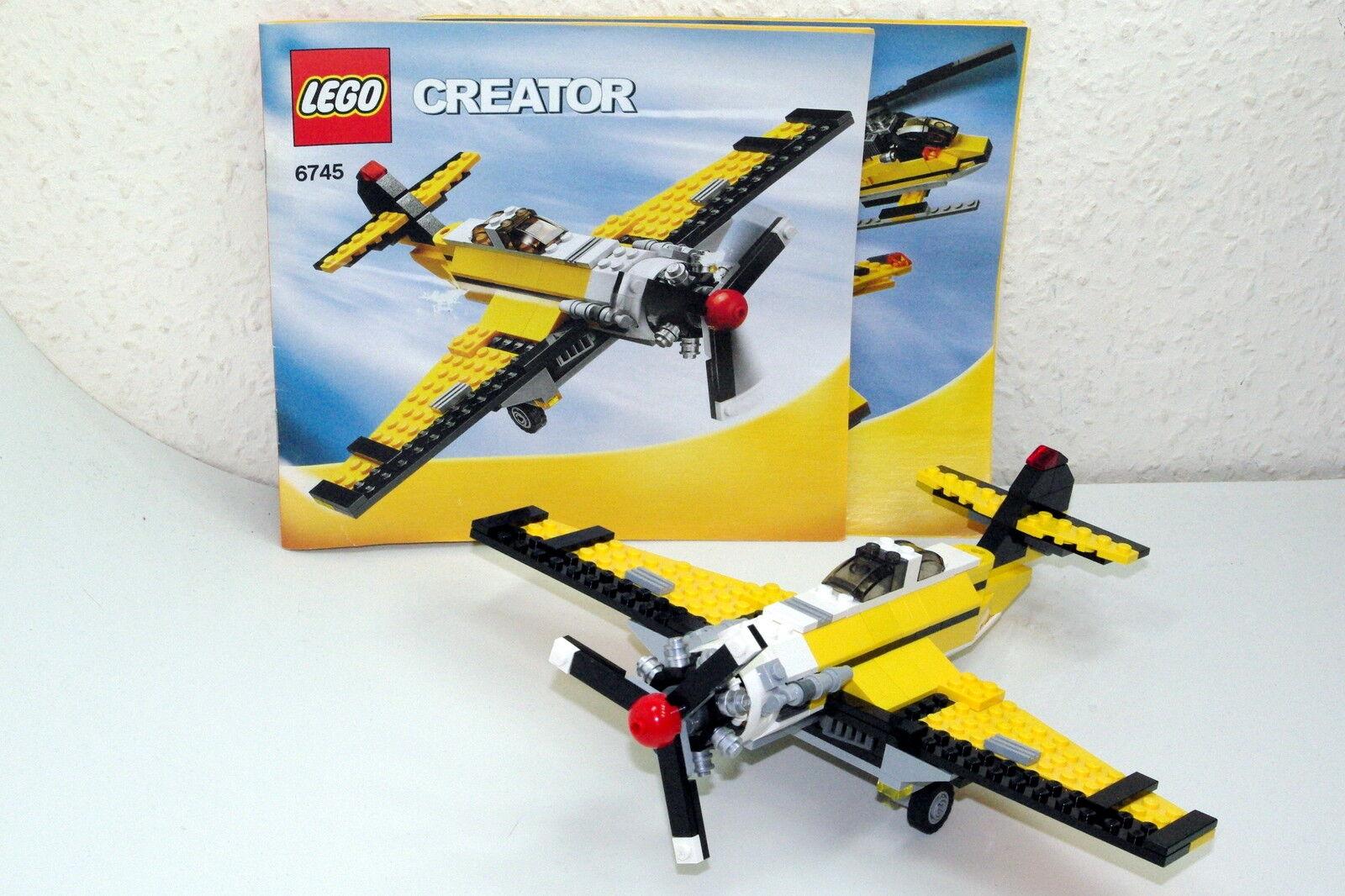 Lego Creator 6745 3 3 3 in 1 Propeller Flugzeug Propellor Power vom Händler 756365