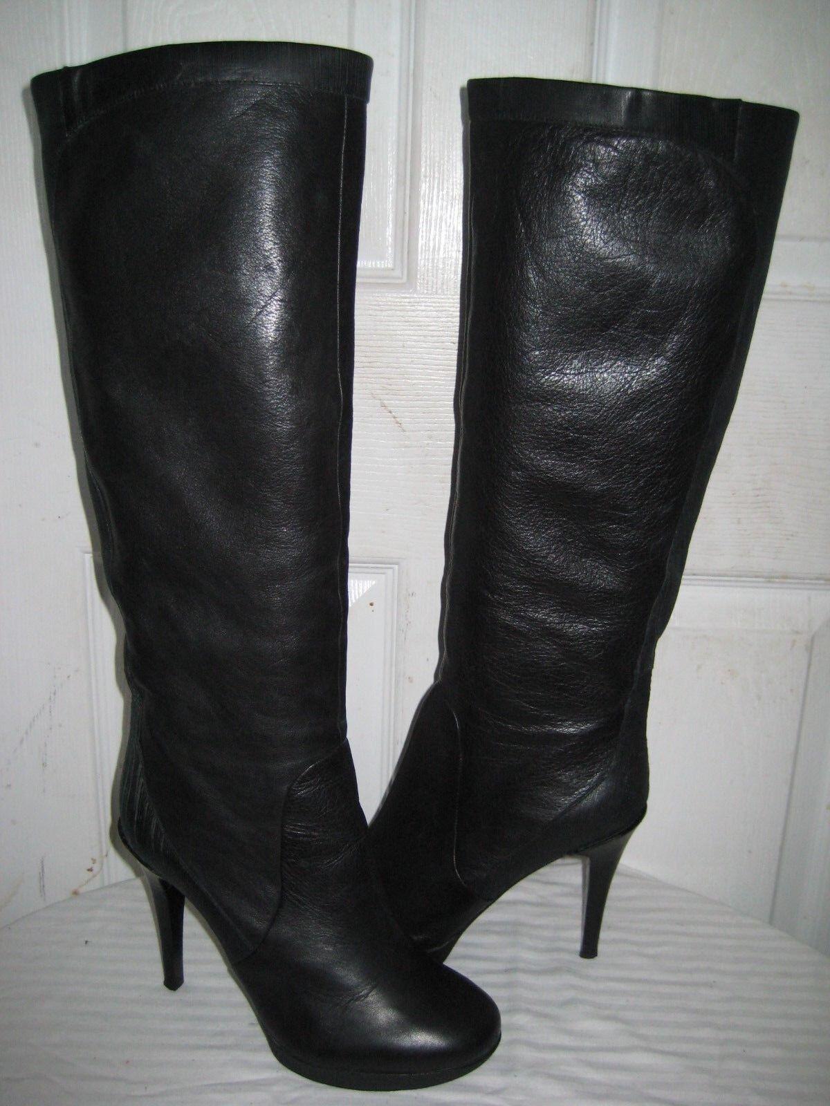 nuevo listado Modern Vintage Noelle Cuero Negro botas a la rodilla rodilla rodilla hign mujer zapatos  7.5  Ahorre hasta un 70% de descuento.