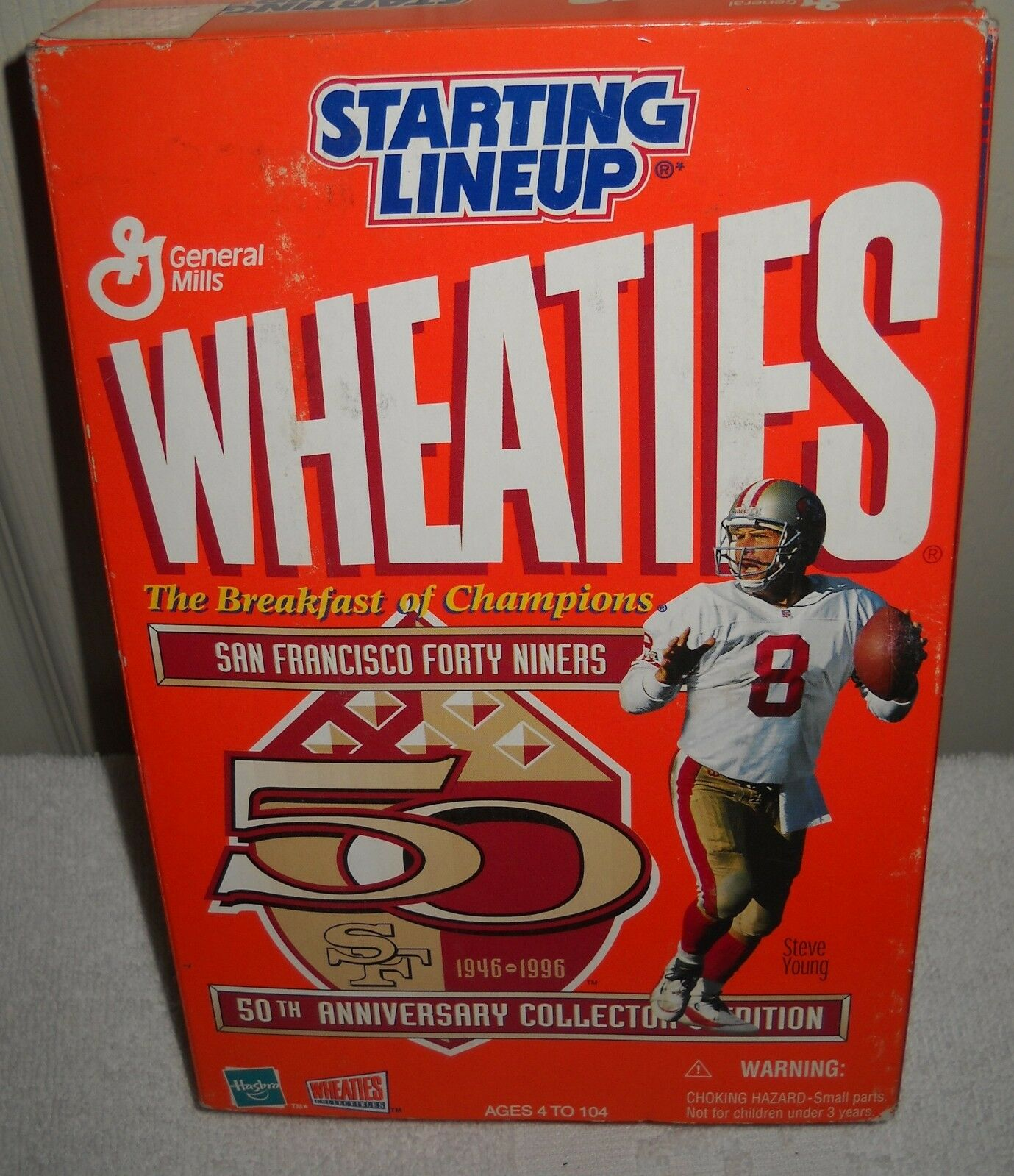 NRFB Kenner Starting Lineup 1996 Wheaties San Francisco 49ers Steve Young