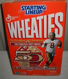 #9933 NRFB Kenner Starting Lineup 1996 Wheaties San Francisco 49ers Steve Young