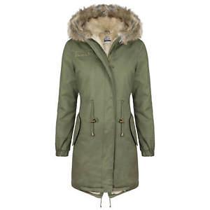 Details zu HAILYS Damen Parka Winter Jacke Mantel Fake Fur Kunstfell Teddyfell Kapuze