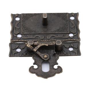 Antique-Retro-Vintage-Decorative-Latch-Wooden-Jewelry-Box-Hasp-Pad-Chest-Lock-DS