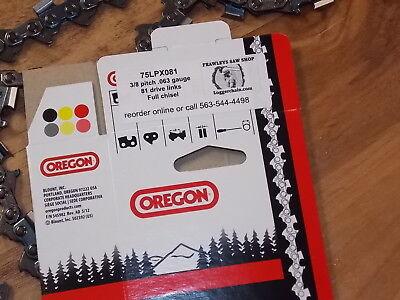 """1 Oregon 24/"""" Chisel chainsaw chain 72LGX081G 3//8 .050 81 DL replaces 72LPX81CQ"""