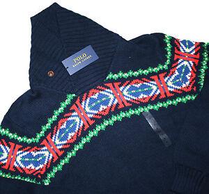 Polo-Ralph-Lauren-Schalkragen-Pima-Cotton-Pullover-Gr-M-L-amp-XL