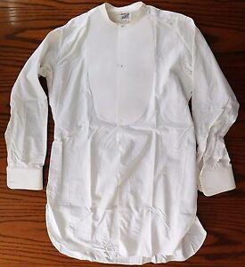 Empesé Robe Tunique Chemise Taille 15 Vintage Pour Homme Edwardian John Barker Kensington-afficher Le Titre D'origine