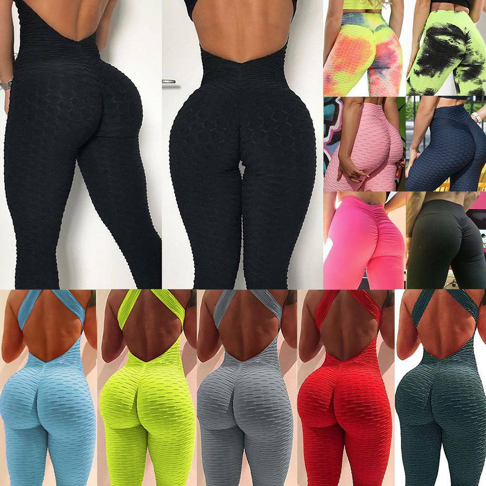 Women Anti-Cellulite Yoga Pants Leggings High Waist Fitness Sports Trousers Gym