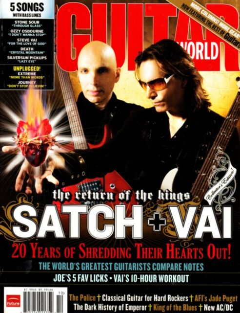 Guitar World Magazine October 2007 Joe Satriani Steve Vai, The Police, AC/DC