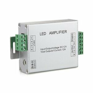 Signal-Amplifier-Repeater-for-LED-RGB-Flexible-Strip-Lights-12V-DC-12A-HY