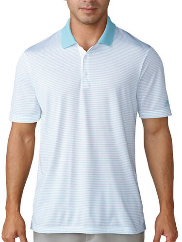 Adidas 2Colour Stripe Polo WhiteIcey Blue 2XL BC7548