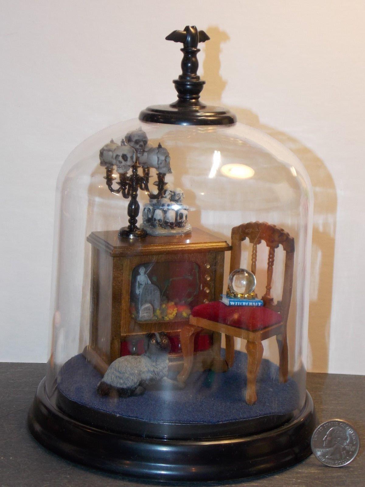 distribución global Miniatura de casa de muñecas Halloween Halloween Halloween escena cúpula TV cementerio escala 1 pulgadas 1 12 W  para barato