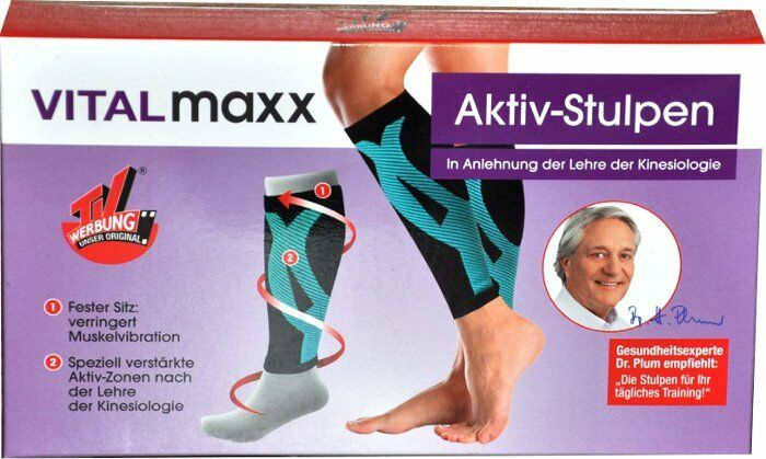 Active Gauntlets by VitalMaxx S M Turquoise Sports Fitness Jog Leg Warmers