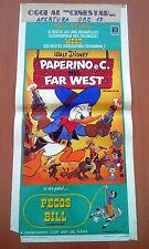 PAPERINO E C. NEL FAR WEST locandina poster Short Program n.12 Disney AJ95