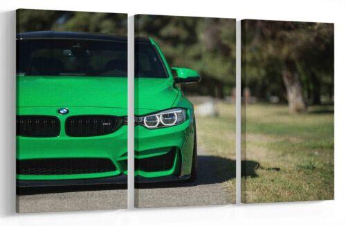 BMW M3  GREEN MULTI PANEL CANVAS  WALL ART PICTURE PRINT AU2 MATAGA !!SALE!!