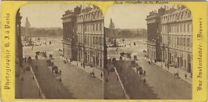 Parigi Istantanea Foto Hippolyte Jouvin Stereo Vintage Albumina Ca 1865