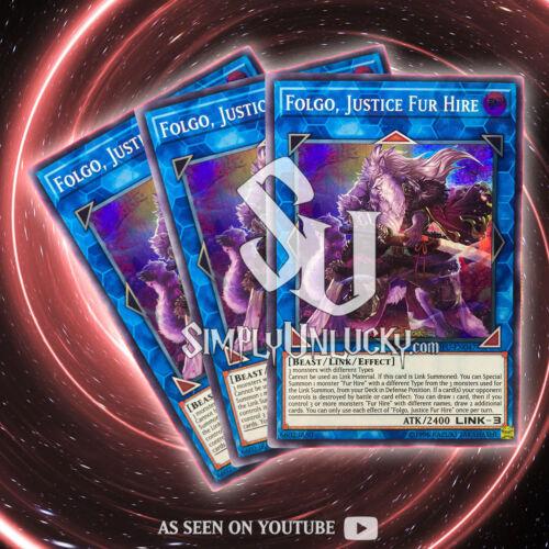 JUSTICE FUR HIRE x3Super RareSOFU-EN047 Soul Fusion YuGiOh FOLGO