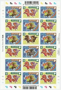 SINGAPORE-2002-ZODIAC-1ST-SERIES-YEAR-OF-HORSE-FULL-SHEET-OF-18-STAMPS-IN-MINT