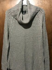 5266197b2f Image is loading NEW-Rue-21-Light-Gray-Speckled-Sweater-Turtle-