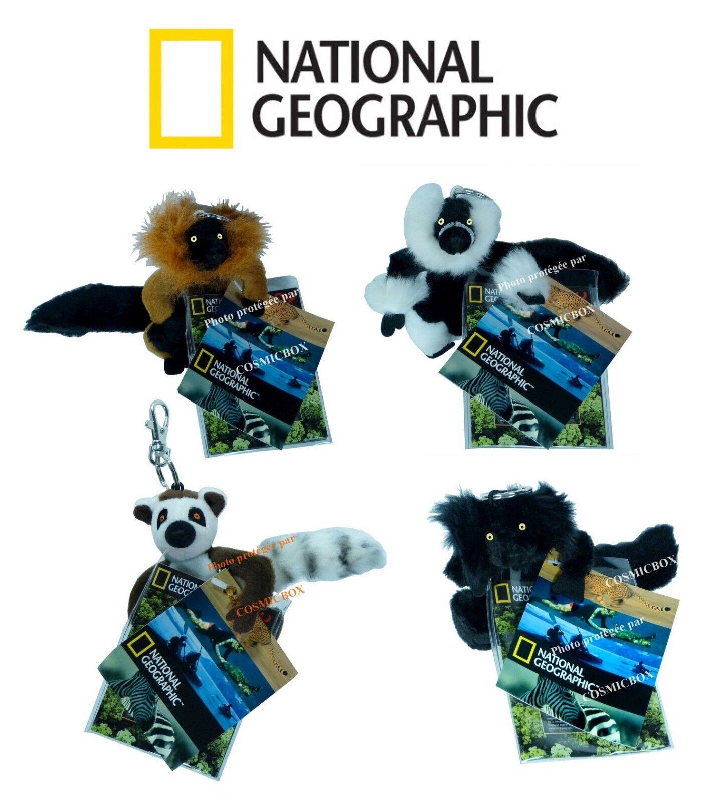 Los 4 porte cl  s national geographic peluches l  muriens animaux sauvages lemuren