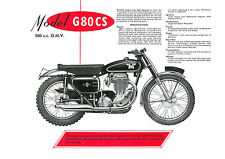 1957 Matchless G80CS 500cc motorcycle poster