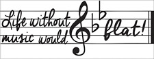Life Without Music Would B Flat Metal Sign, Street Sign, Music Room, Home Decor