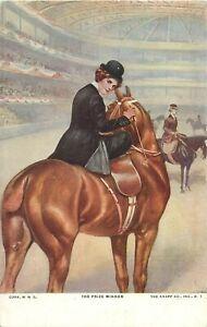 The-Prize-Winner-horse-amp-jockey-postcard