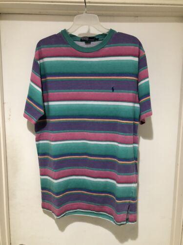 Vintage 90s Polo Ralph Lauren Striped Multi Color