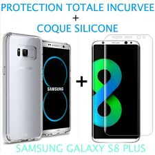 Film Incurvé Intégral Samsung Galaxy S8 PLUS + Coque silicone transparente