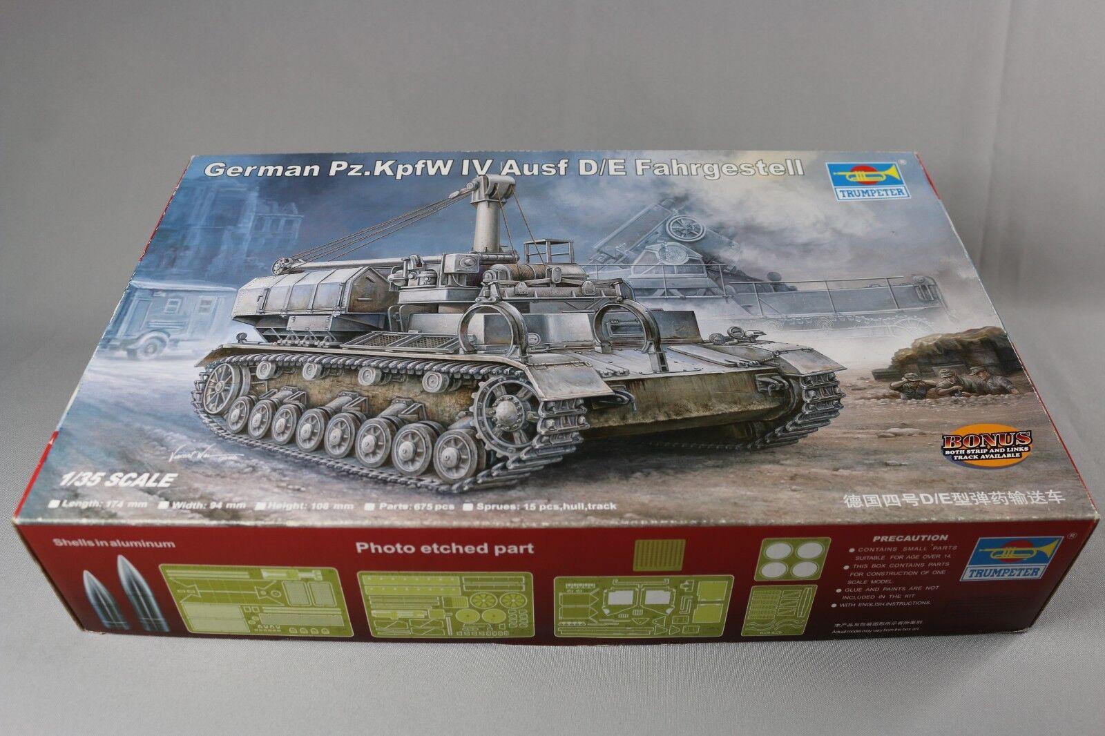ZC164 Trumpeter 00362 Maquette Militaire 1 35 German Pz KpfW IV Ausf Fahrgestell