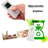 Slim Mobile Phone Little Pocket Gsm Kids' Card Phone White Aiek Card 1.0 Ultra