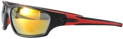 Cycling Sport Sunglasses Black Orange Multi Mirrored Case Included Sp09 Col 3 ZuverläSsige Leistung